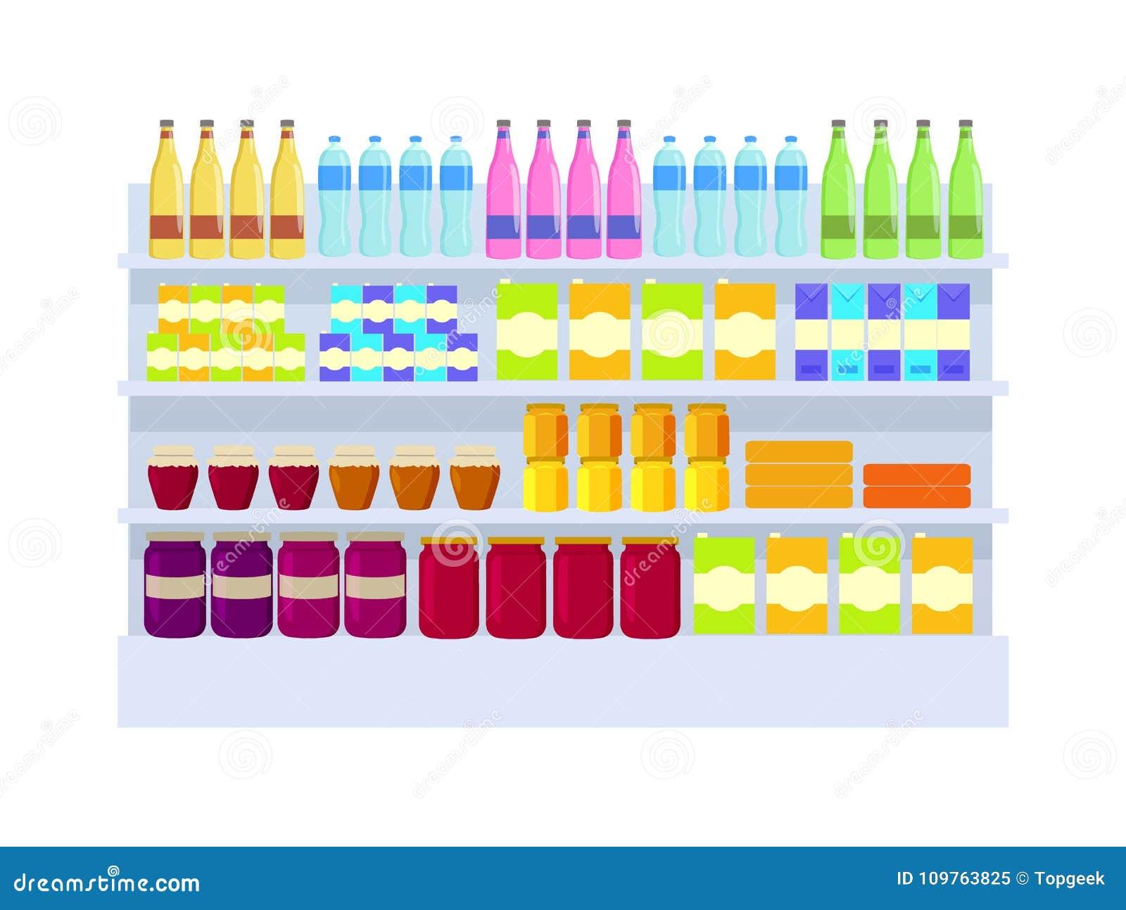 超级市场产品品种传染媒介例证