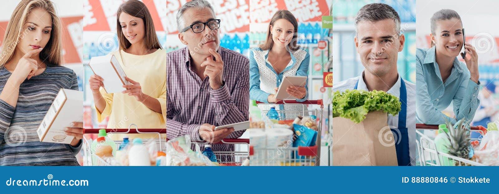 超级市场的人们