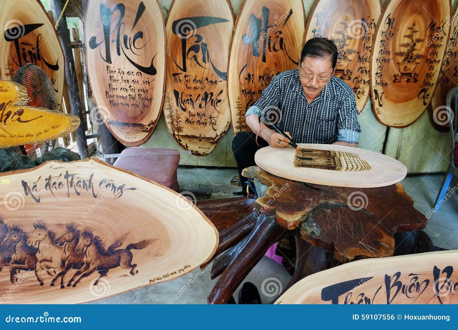 越南艺术家木刻, Genh敲响了