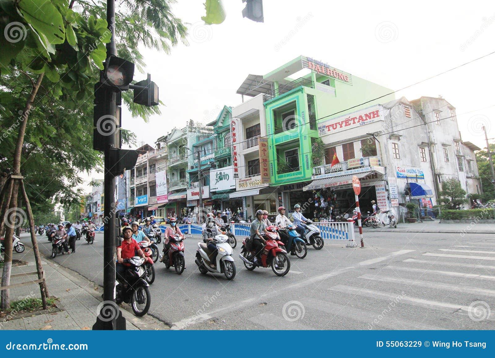 越南颜色街道视图