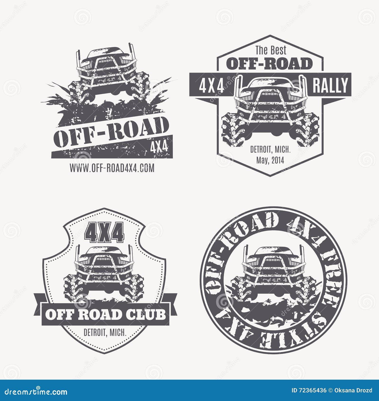 越野车传染媒介象征,标签和商标