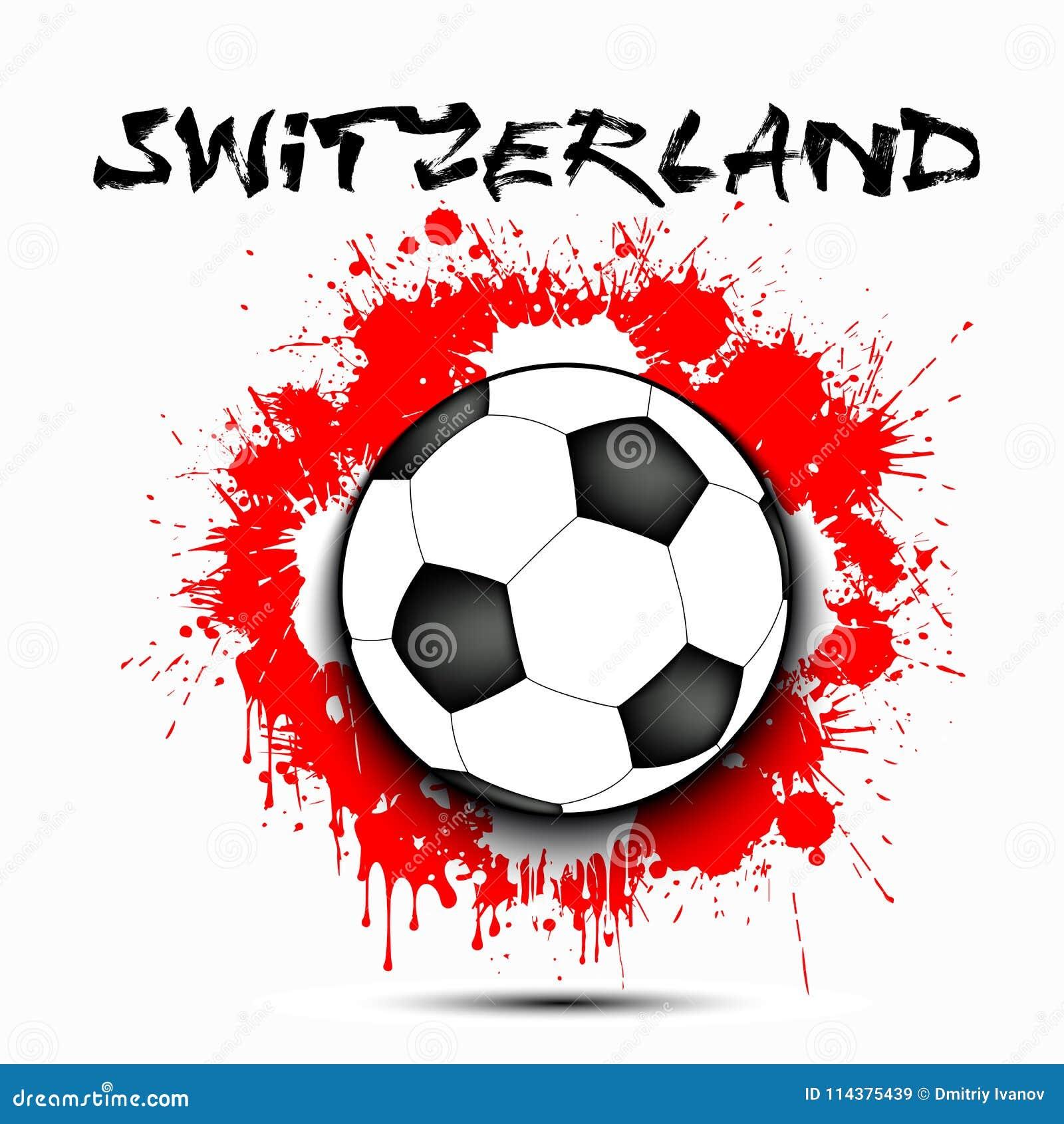 足球和瑞士旗子