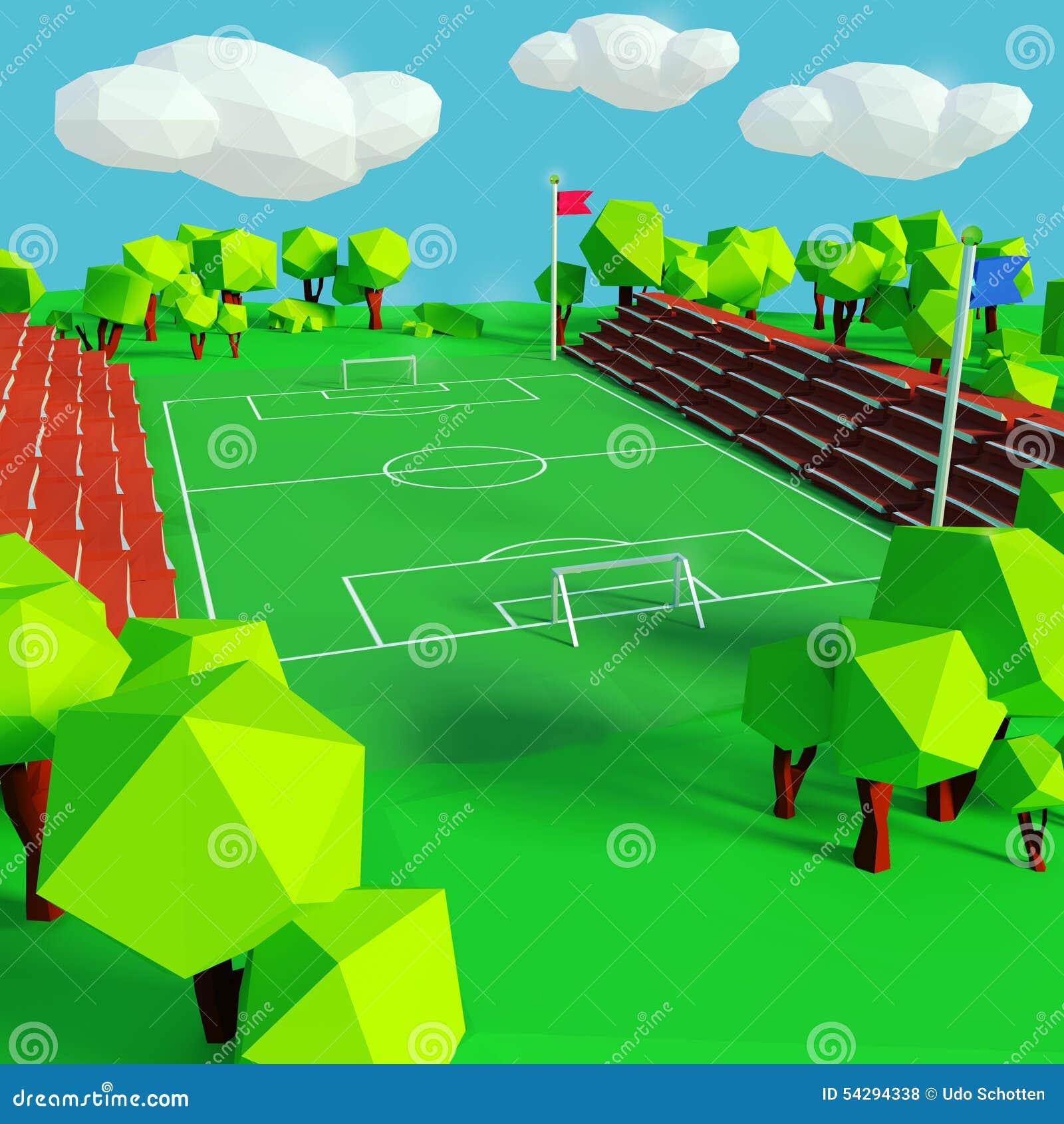 足球和运动场