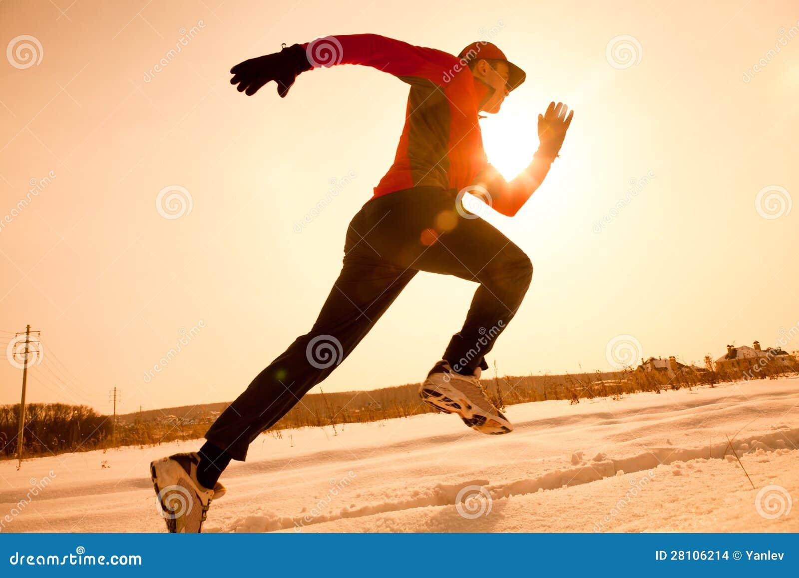 跑步在冬天