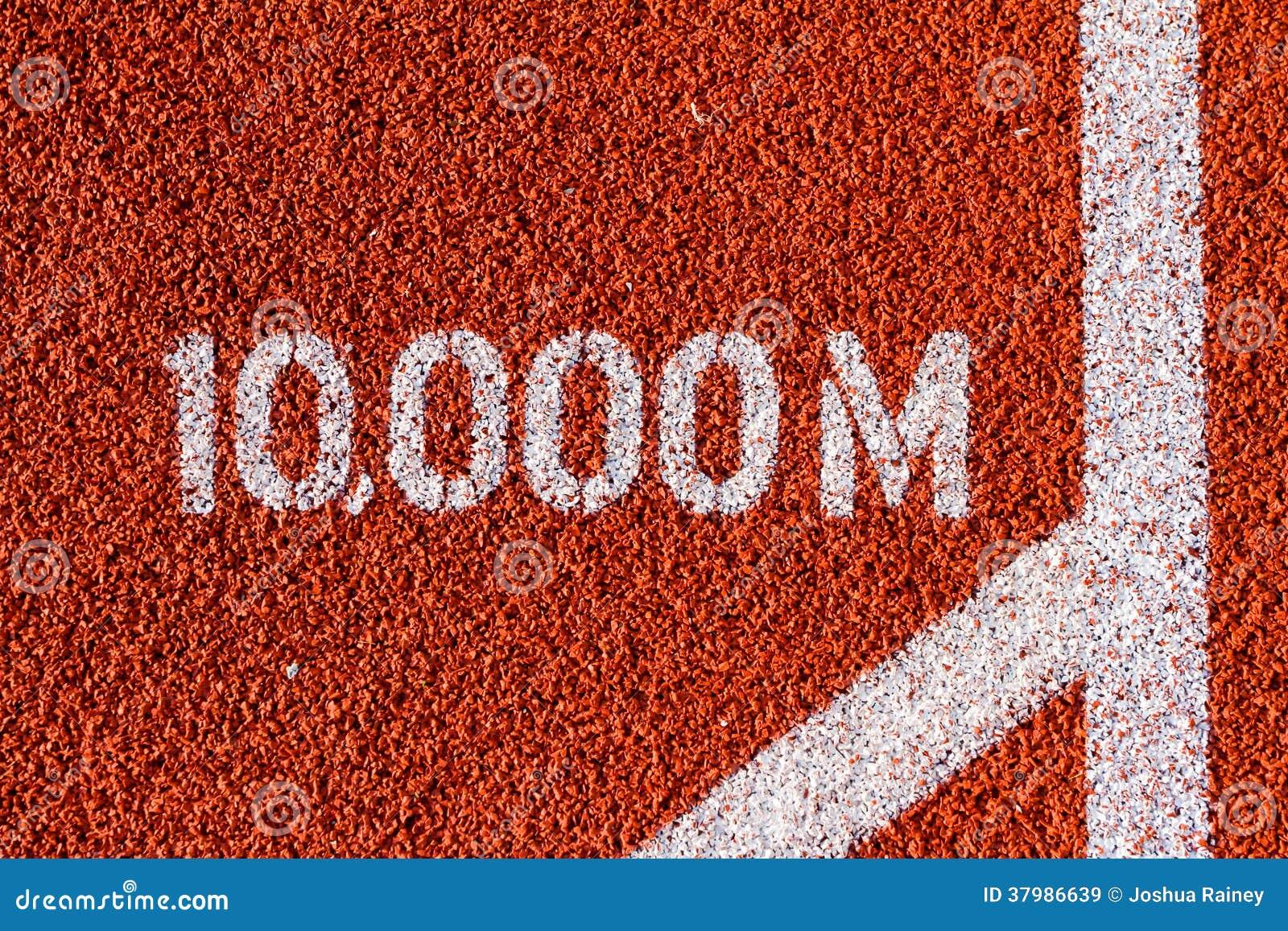 跑10,000m马克的田径运动