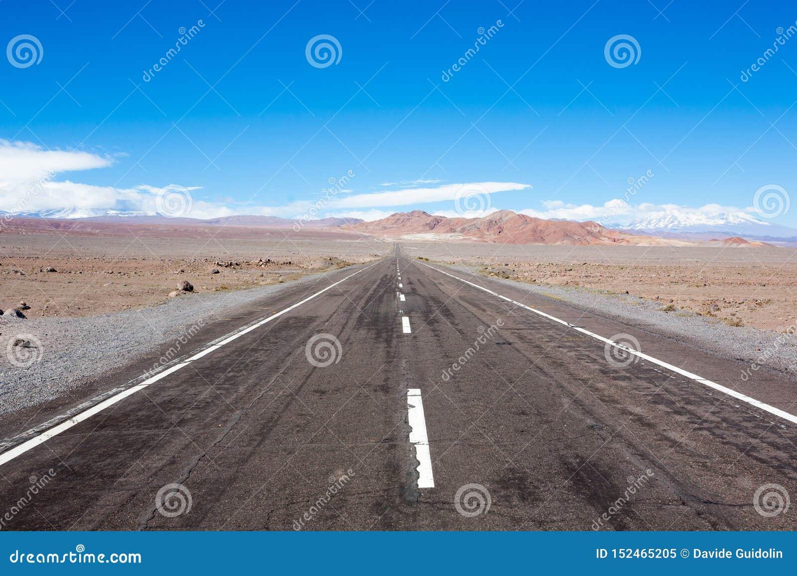 路向圣佩德罗de阿塔卡马高原,智利风景