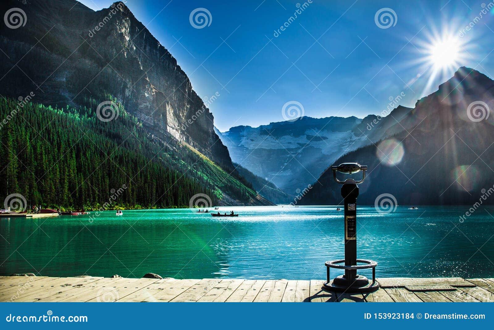 路易丝湖美丽的景色