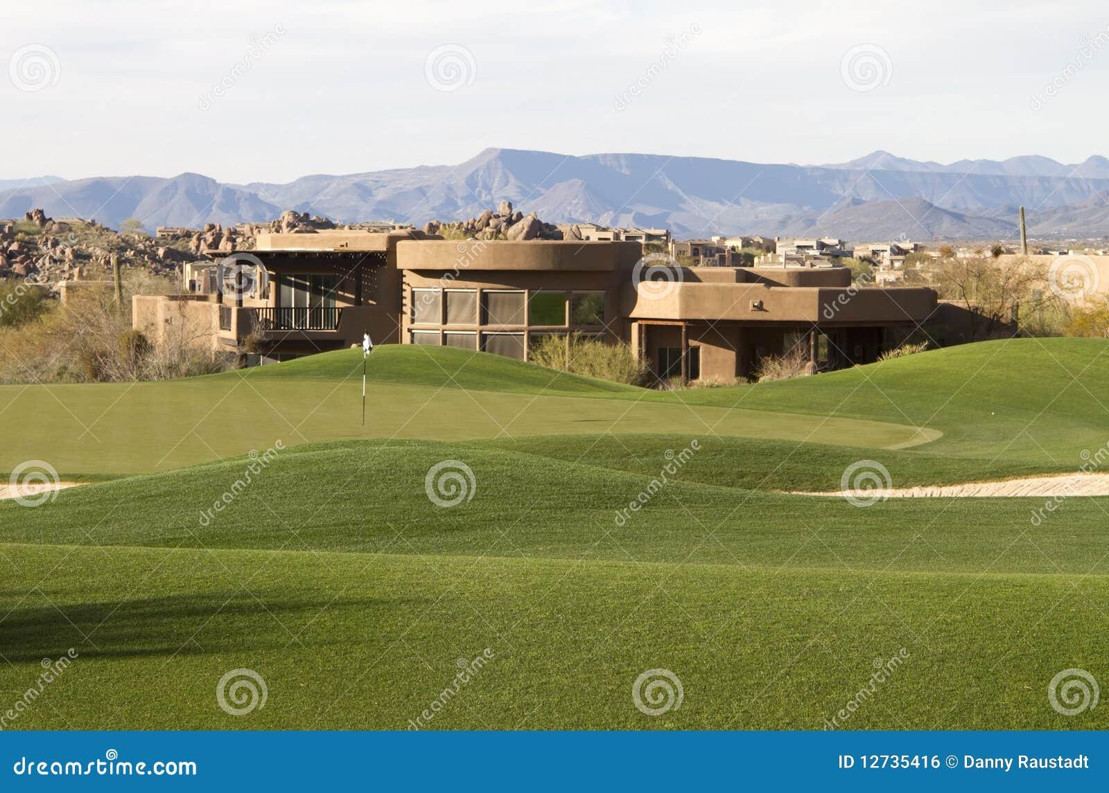 路线沙漠独有的高尔夫球家现代唯一