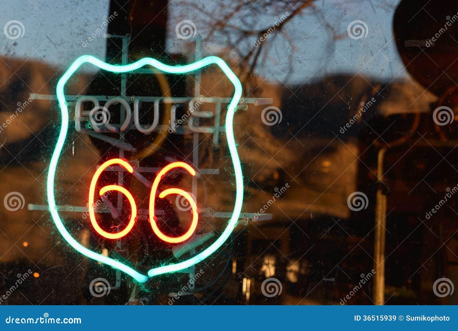 路线66霓虹灯广告
