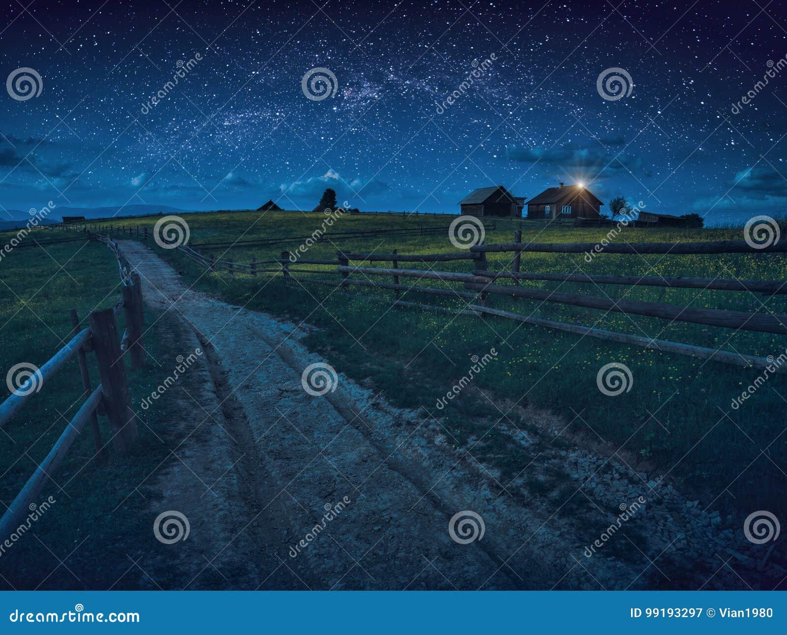 路通过夜村庄