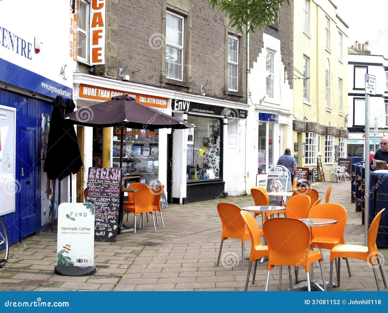 路面咖啡馆, Teignmouth,德文郡。