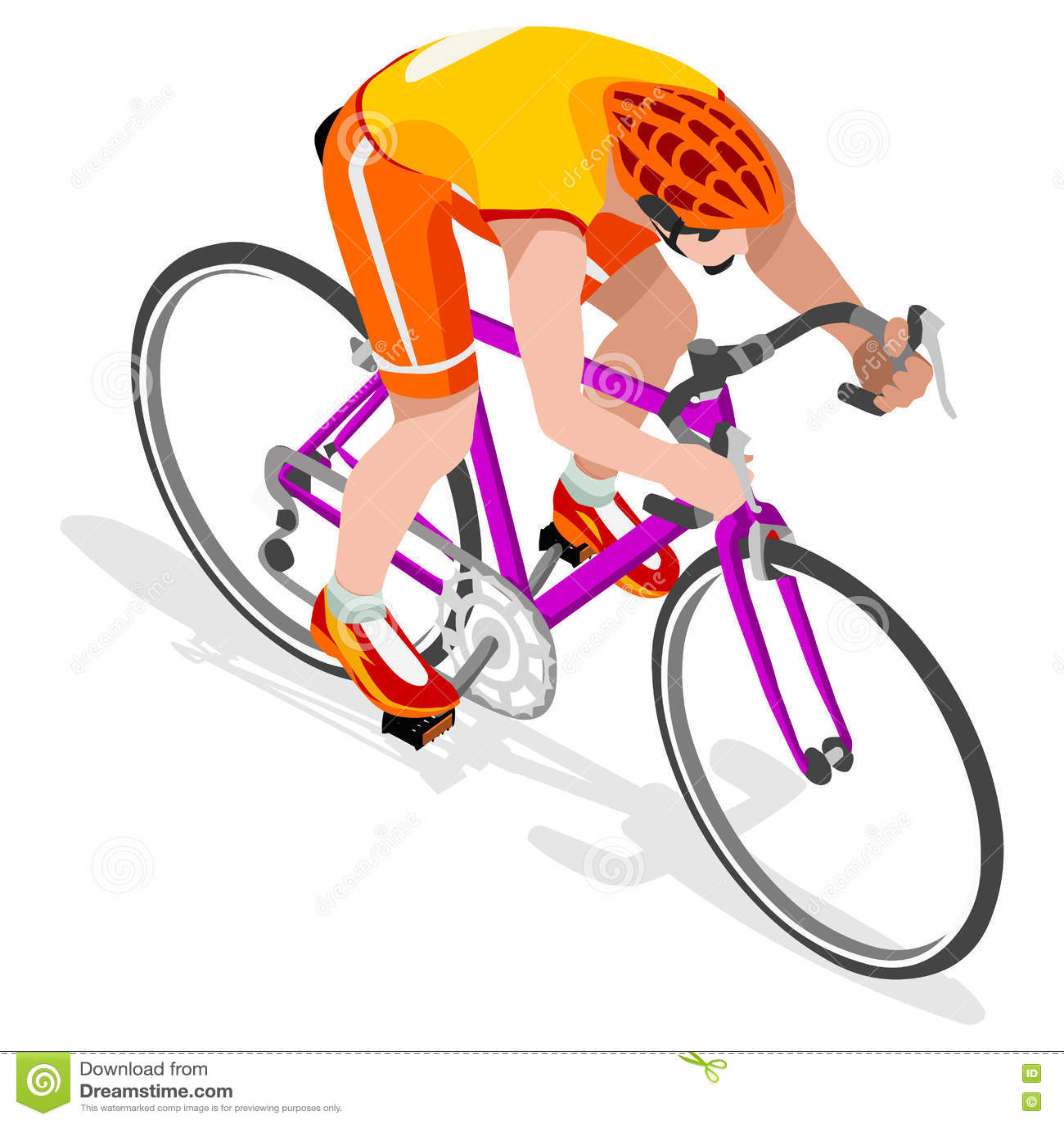 路骑自行车者自行车骑士运动员夏天比赛象集合 路循环的速度概念 3D等量运动员 奥林匹克自行车炫耀