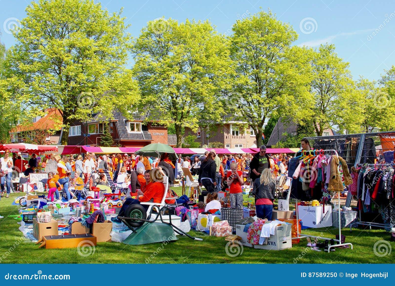 跳蚤市场第二手Kingsday,荷兰