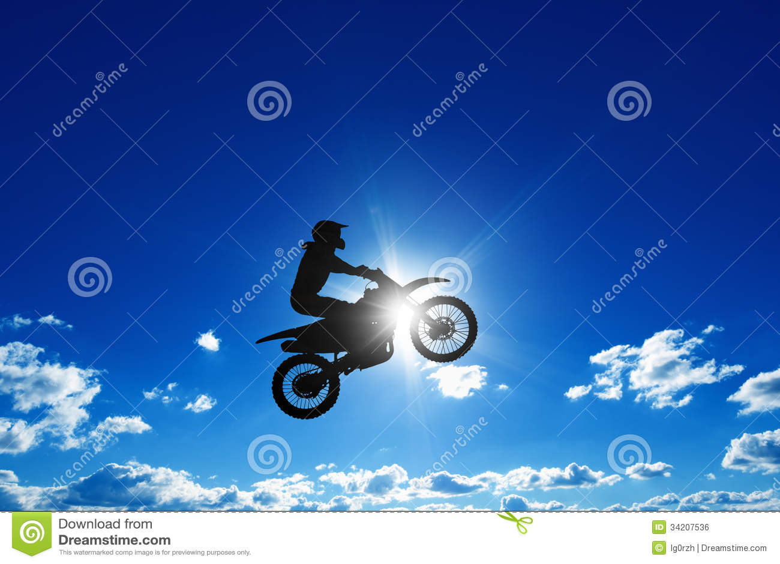 跳跃的摩托车车手