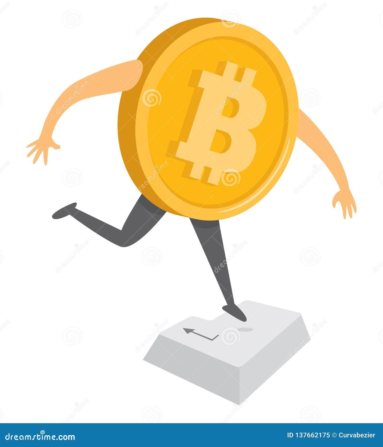 跳跃Bitcoin的货币输入键