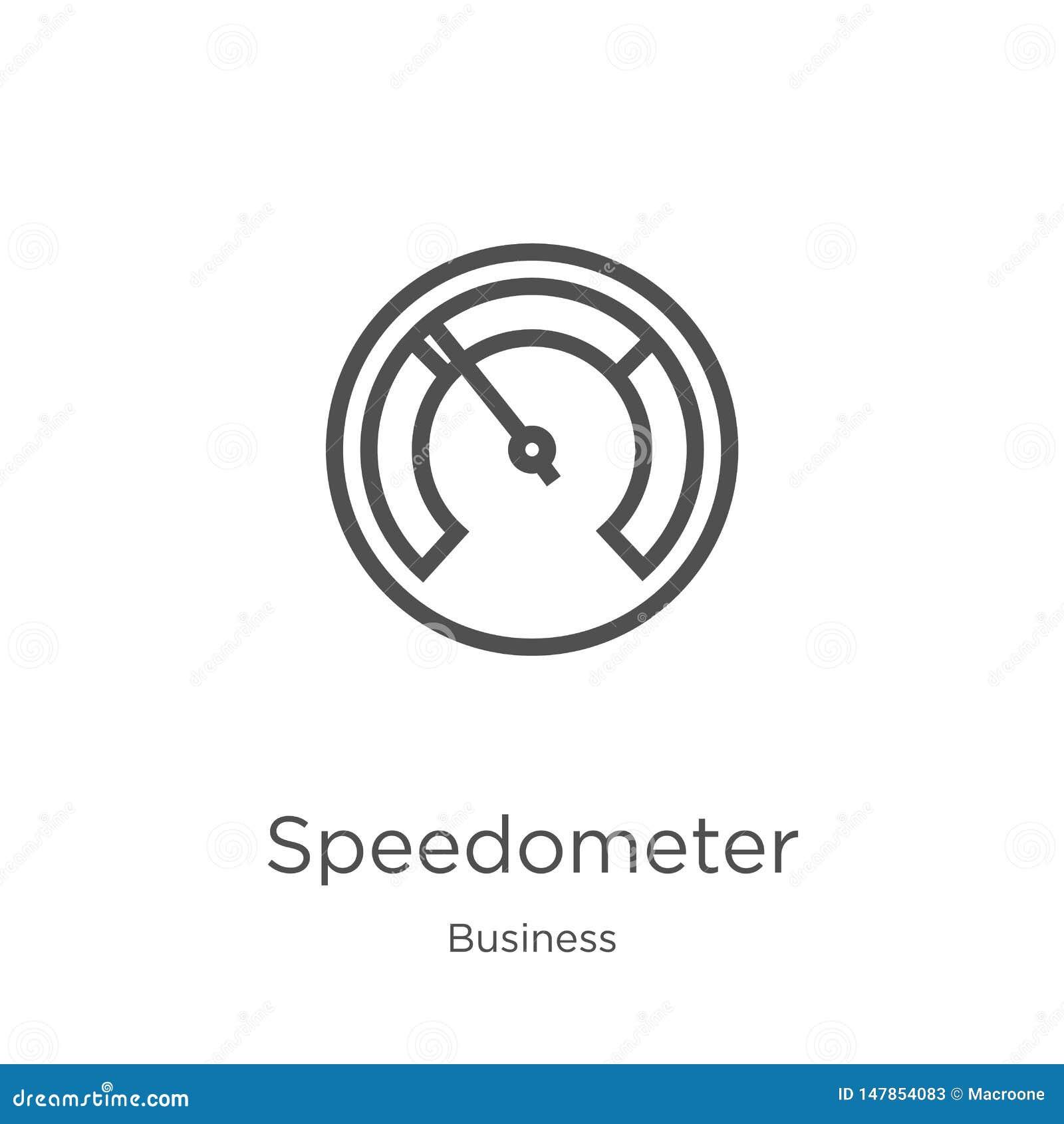 车速表从企业汇集的象传染媒介 稀薄的线车速表概述象传染媒介例证 r