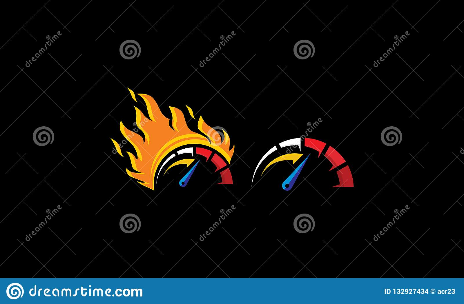 车速表商标象传染媒介速度