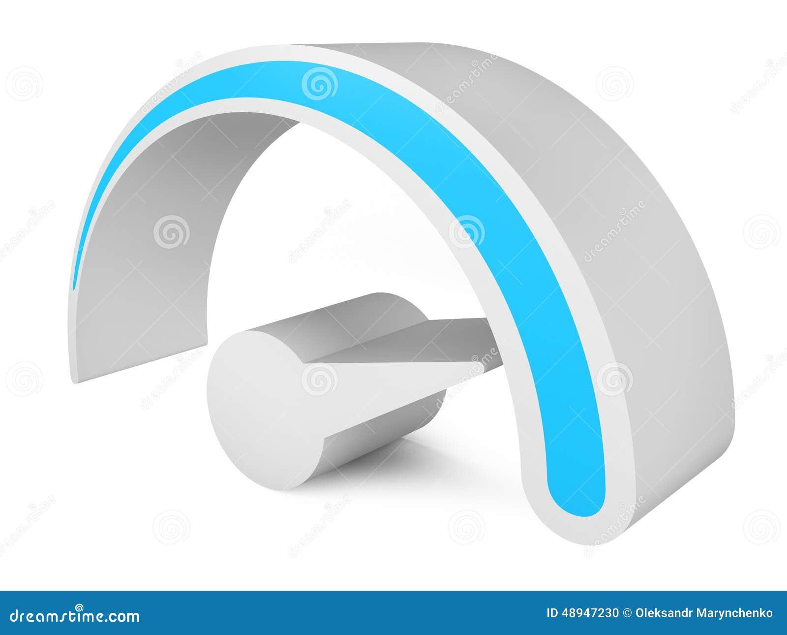 车速表 3d抽象例证符号向量