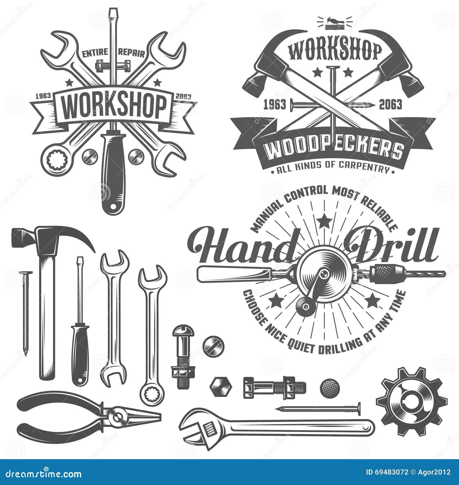 葡萄酒象征修理车间和工具在葡萄酒样式购物 建筑师图纸大厦工具图片