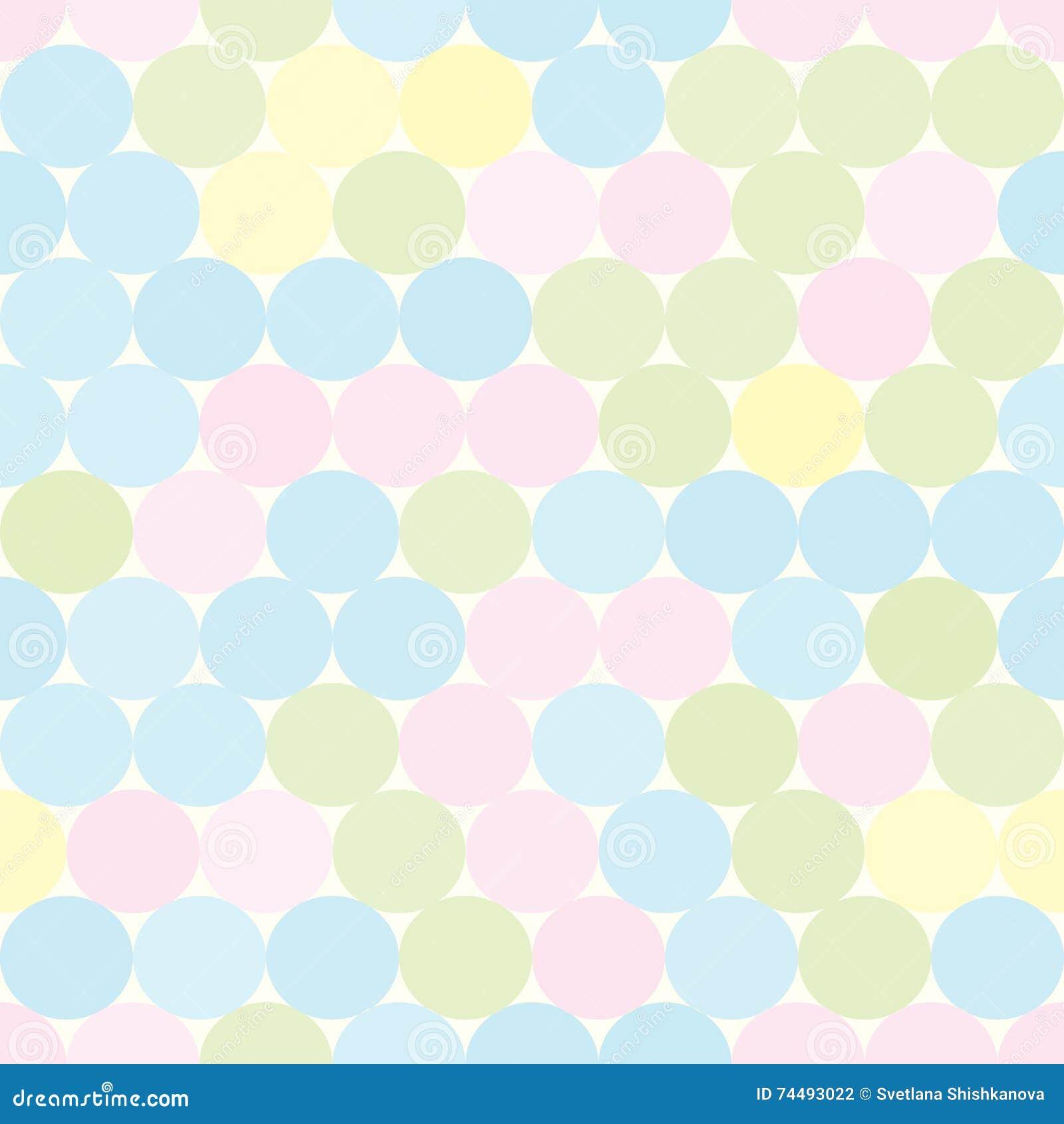 软性与圈子的色的无缝的样式 抽象几何背景