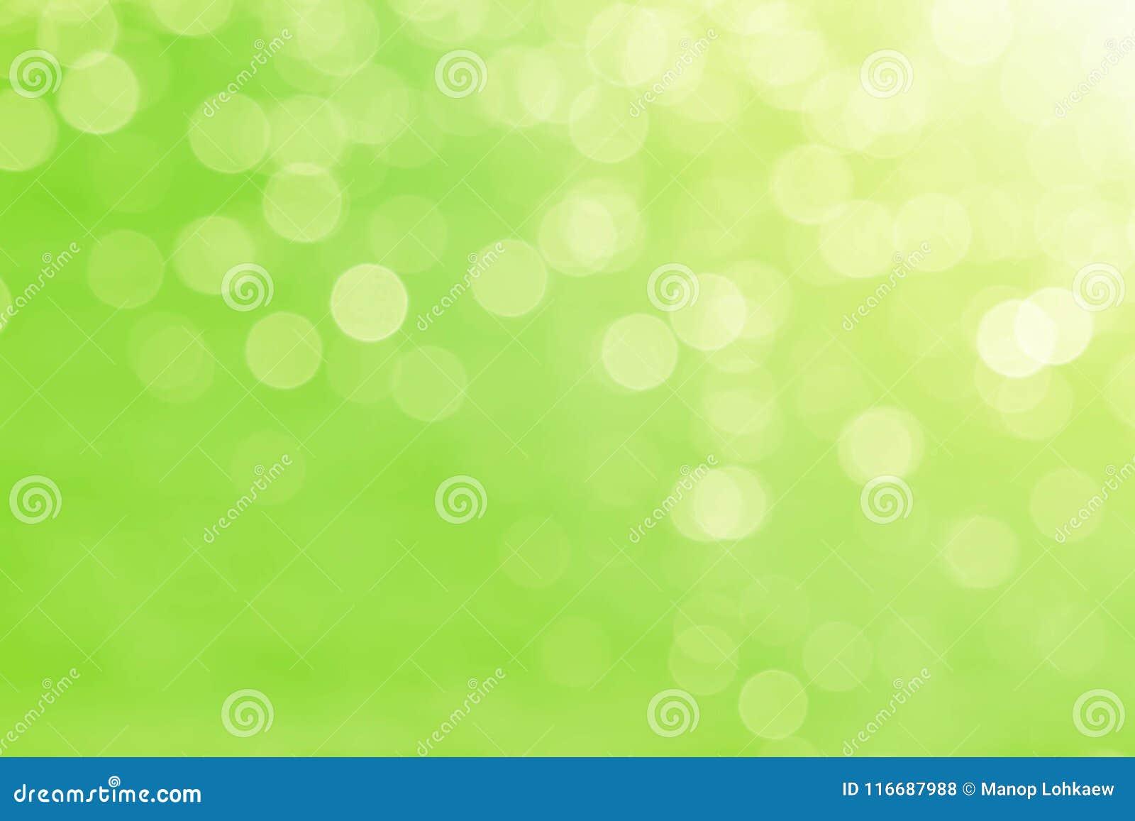 软性弄脏了甜绿色bokeh自然摘要背景