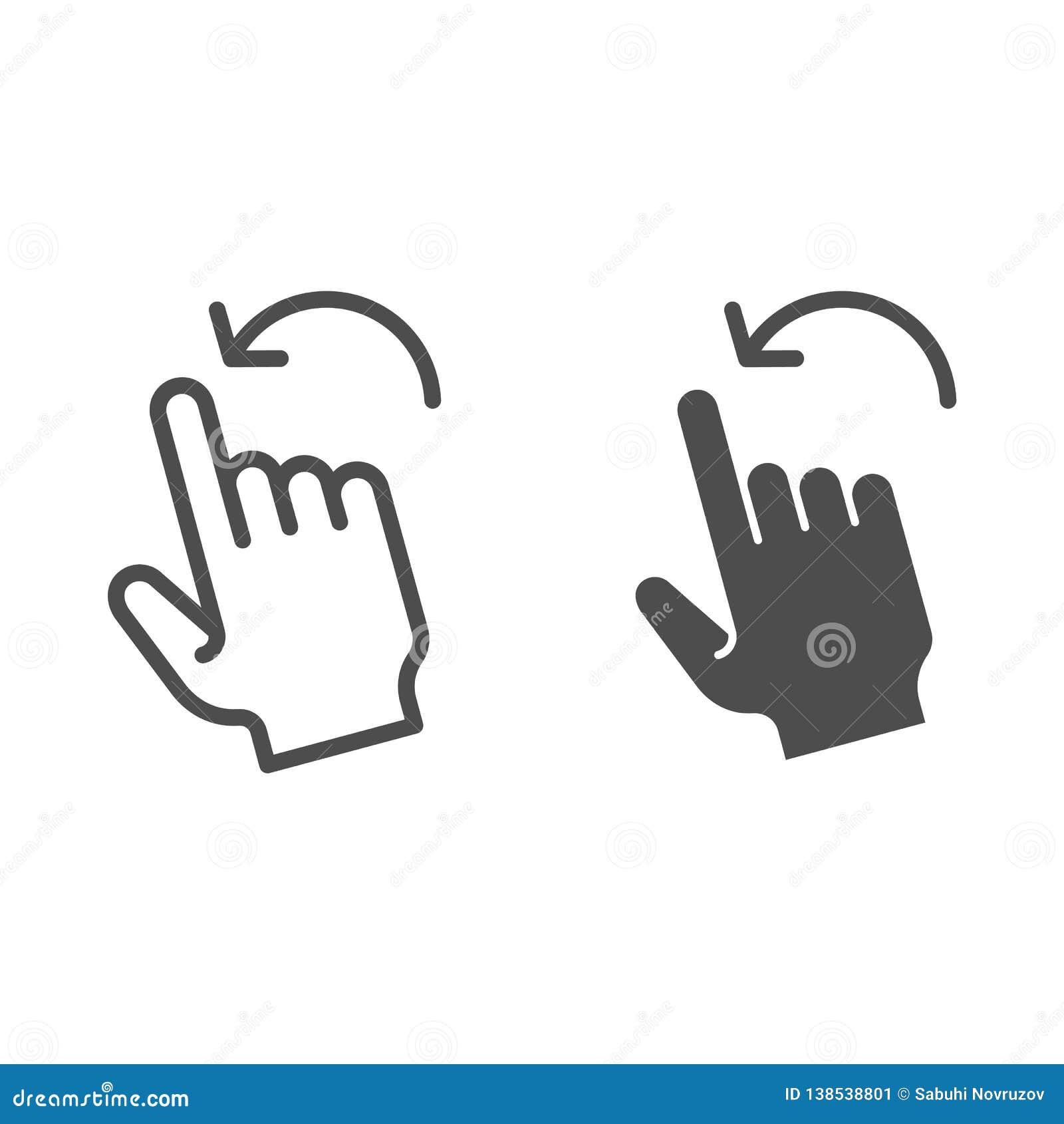 轻打留下姿态线和纵的沟纹象 对在白色隔绝的左传染媒介例证的重击 点击概述样式设计