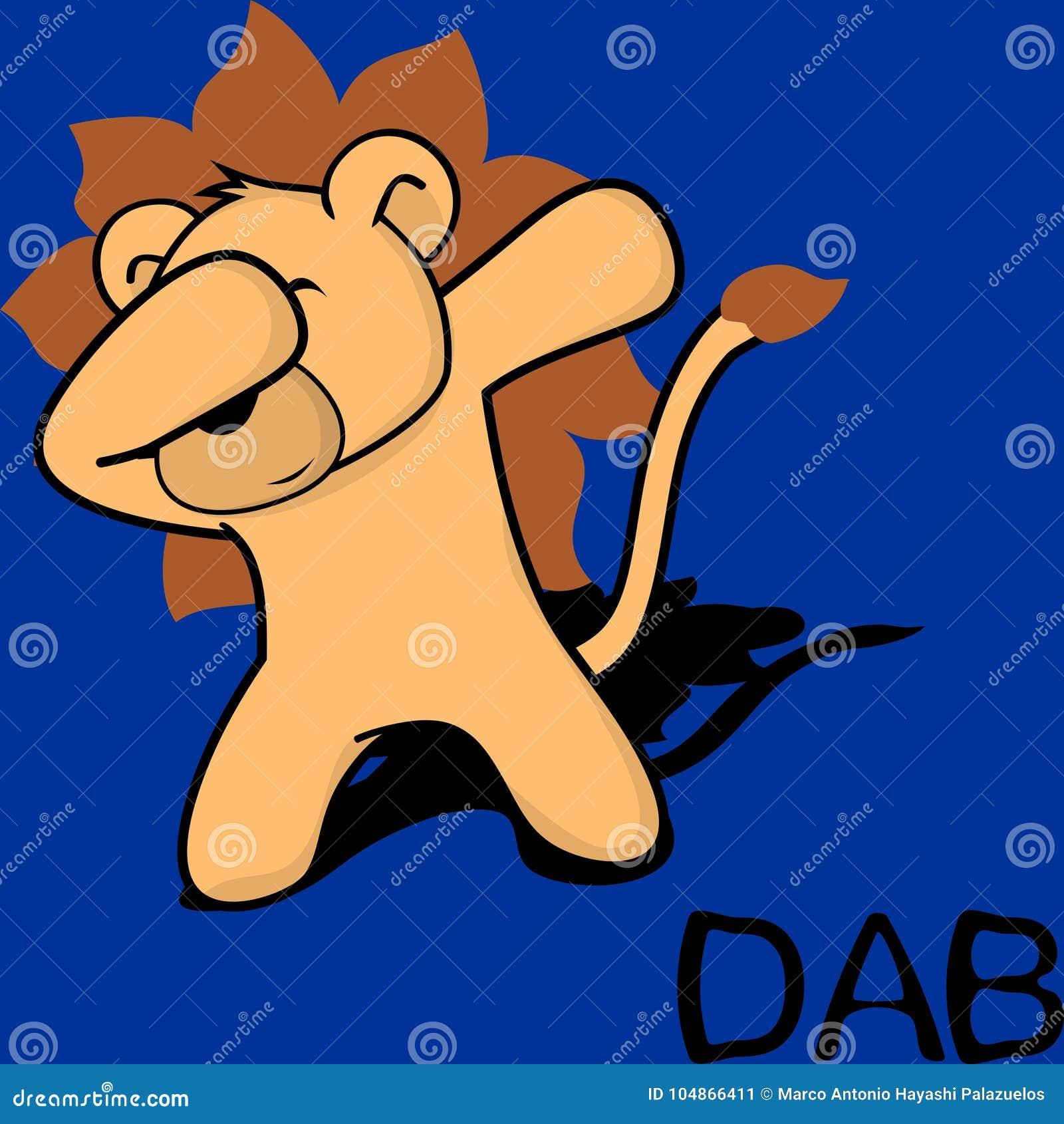 轻拍轻打的姿势狮子孩子动画片