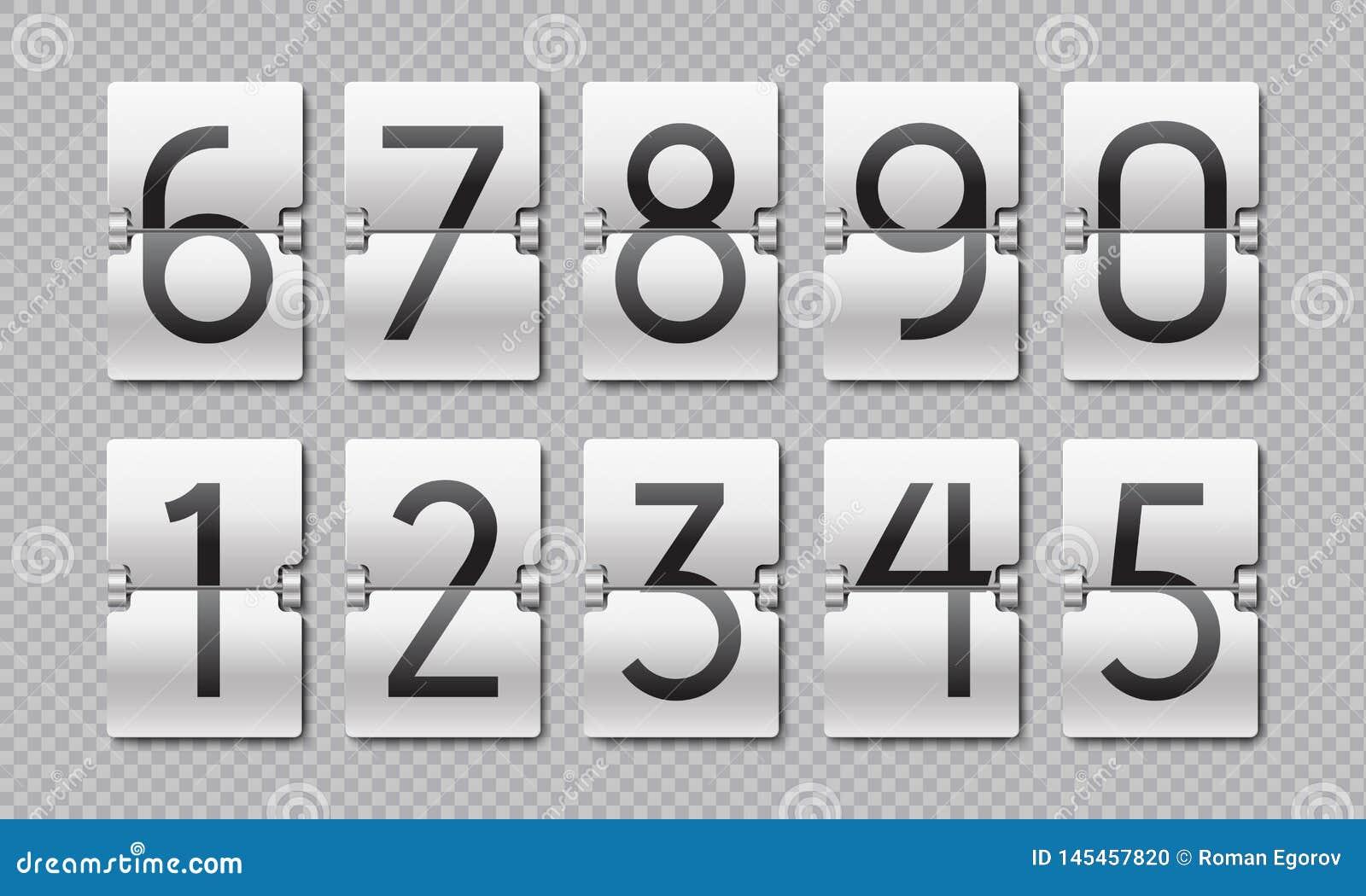 读秒数字 轻碰时钟计数器、时间元素数字记分牌的和模式定时器 传染媒介读秒保持