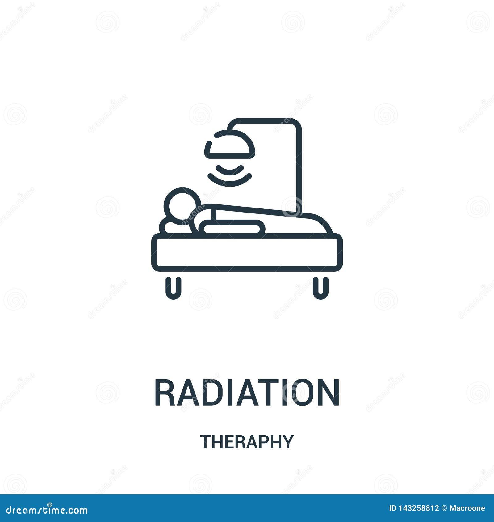 辐射从theraphy汇集的象传染媒介 稀薄的线辐射概述象传染媒介例证