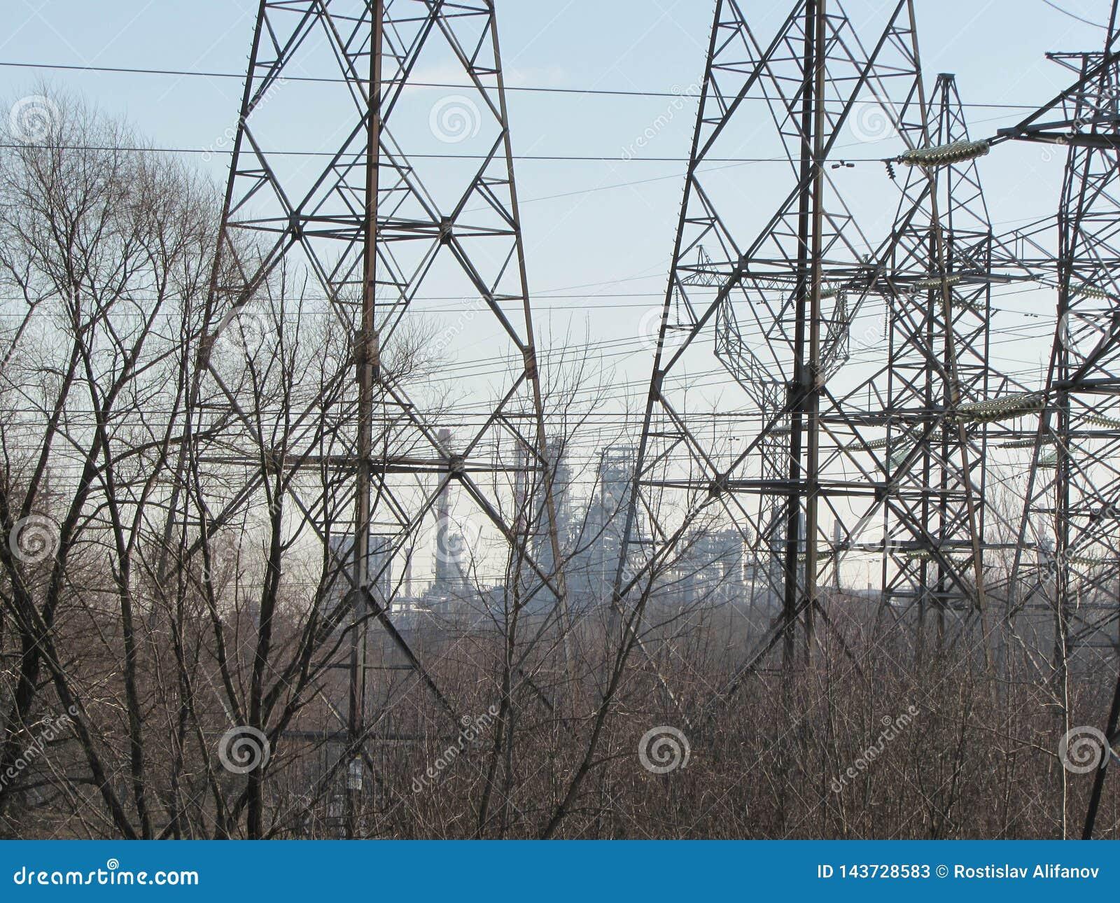 输电线在莫斯科