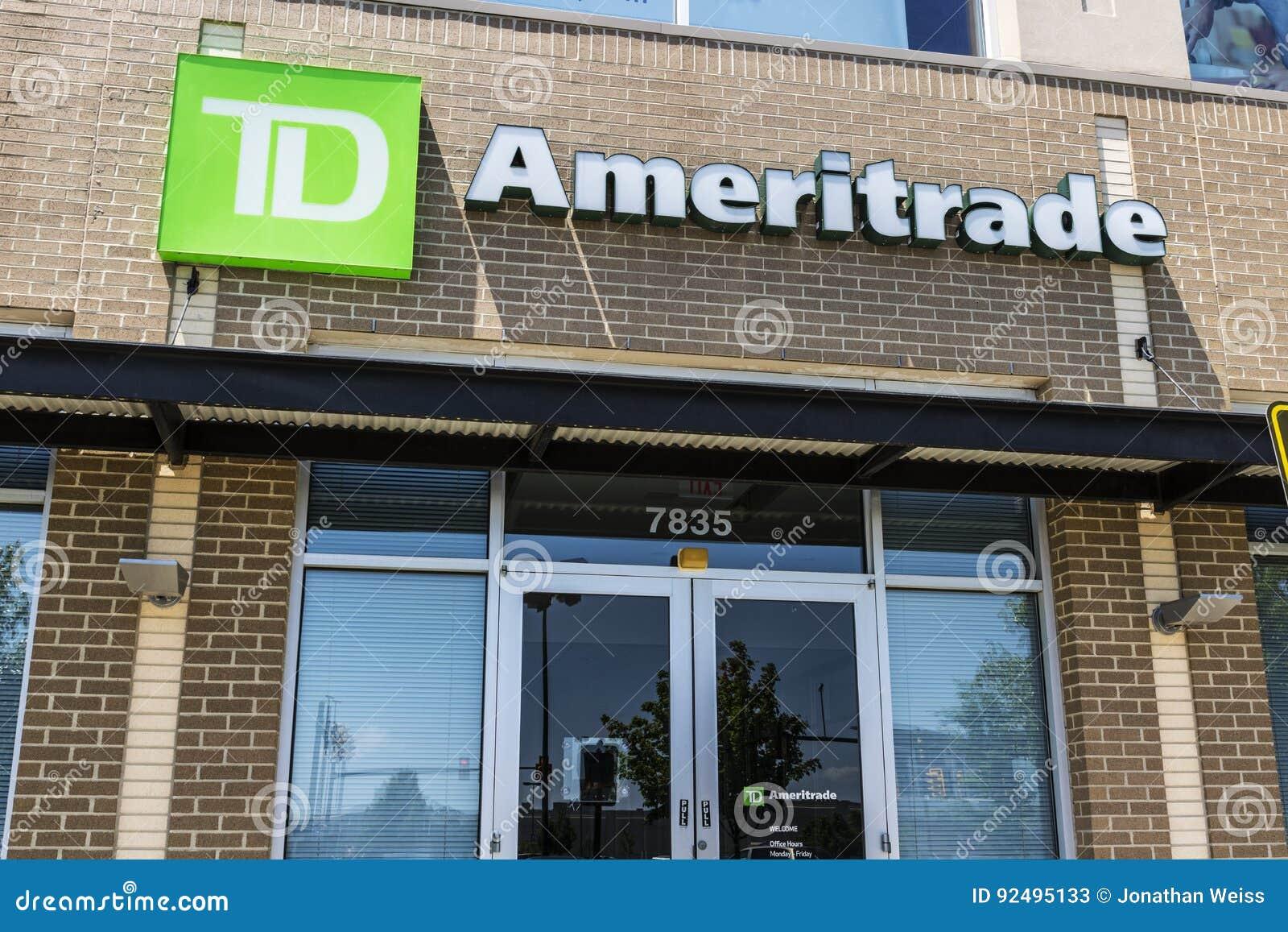 辛辛那提-大约2017年5月:TD Ameritrade地方分部 股票和投资一个网上经纪的TD Ameritrade II