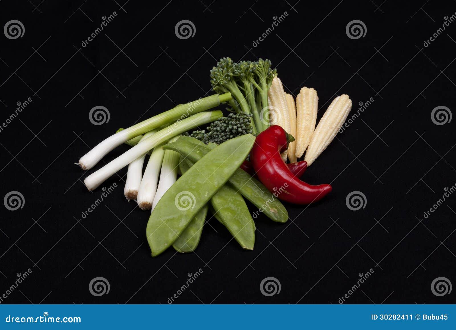 辣椒、硬花甘蓝、婴孩韭葱、小玉米和mange招徕雇客