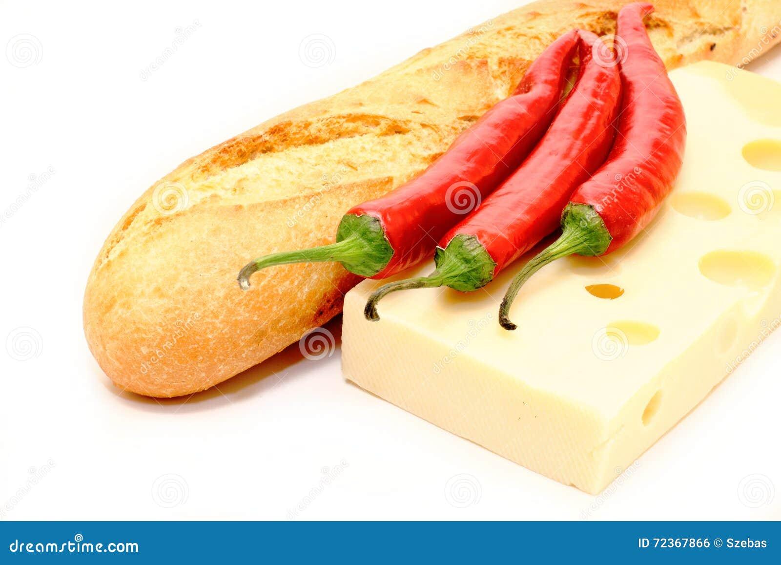 辣食物长方形宝石用乳酪