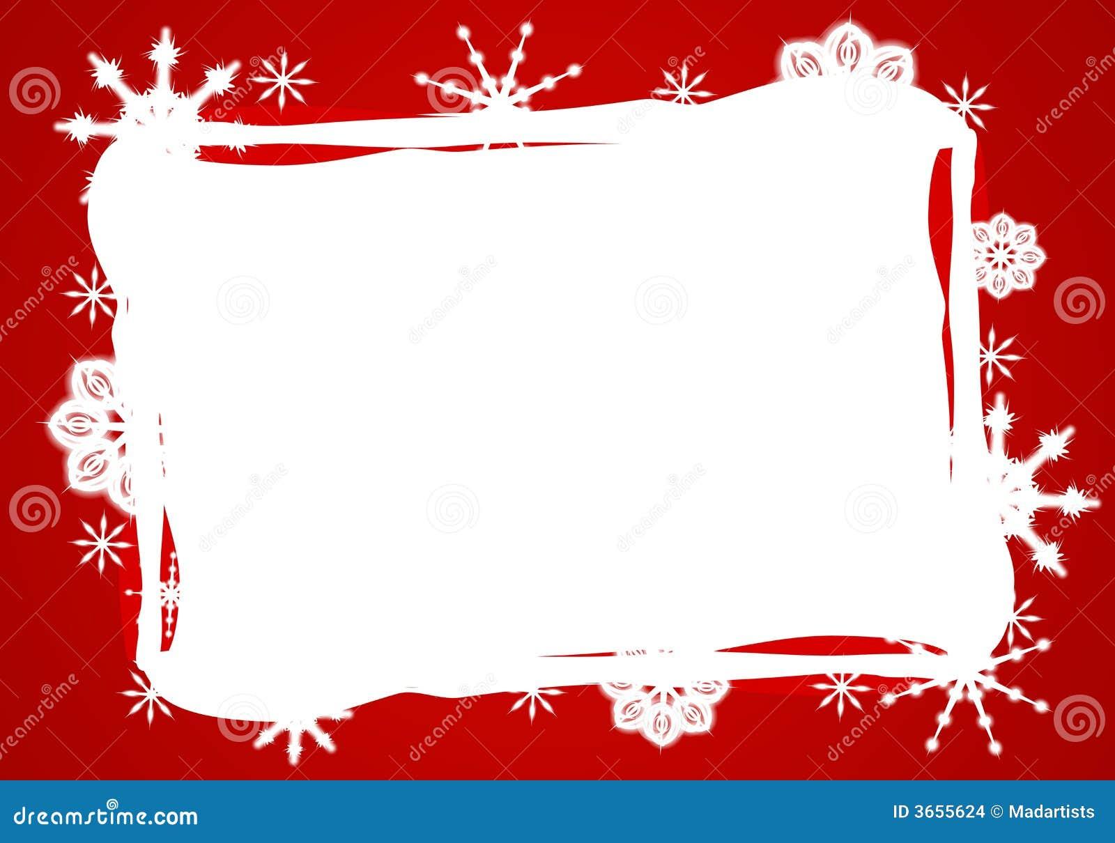 边界红色雪花白色