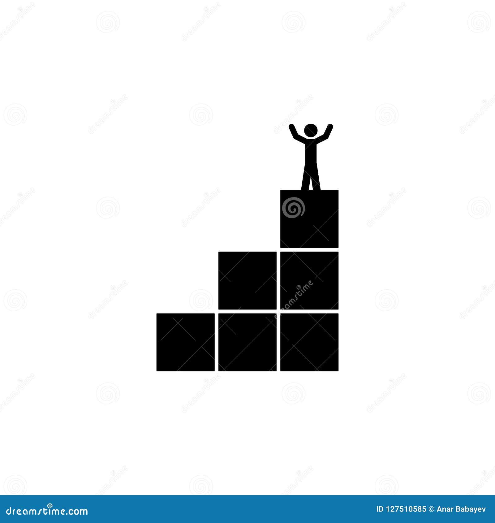 达到目标象 被克服的挑战例证的元素 优质质量图形设计象 标志和标志collec