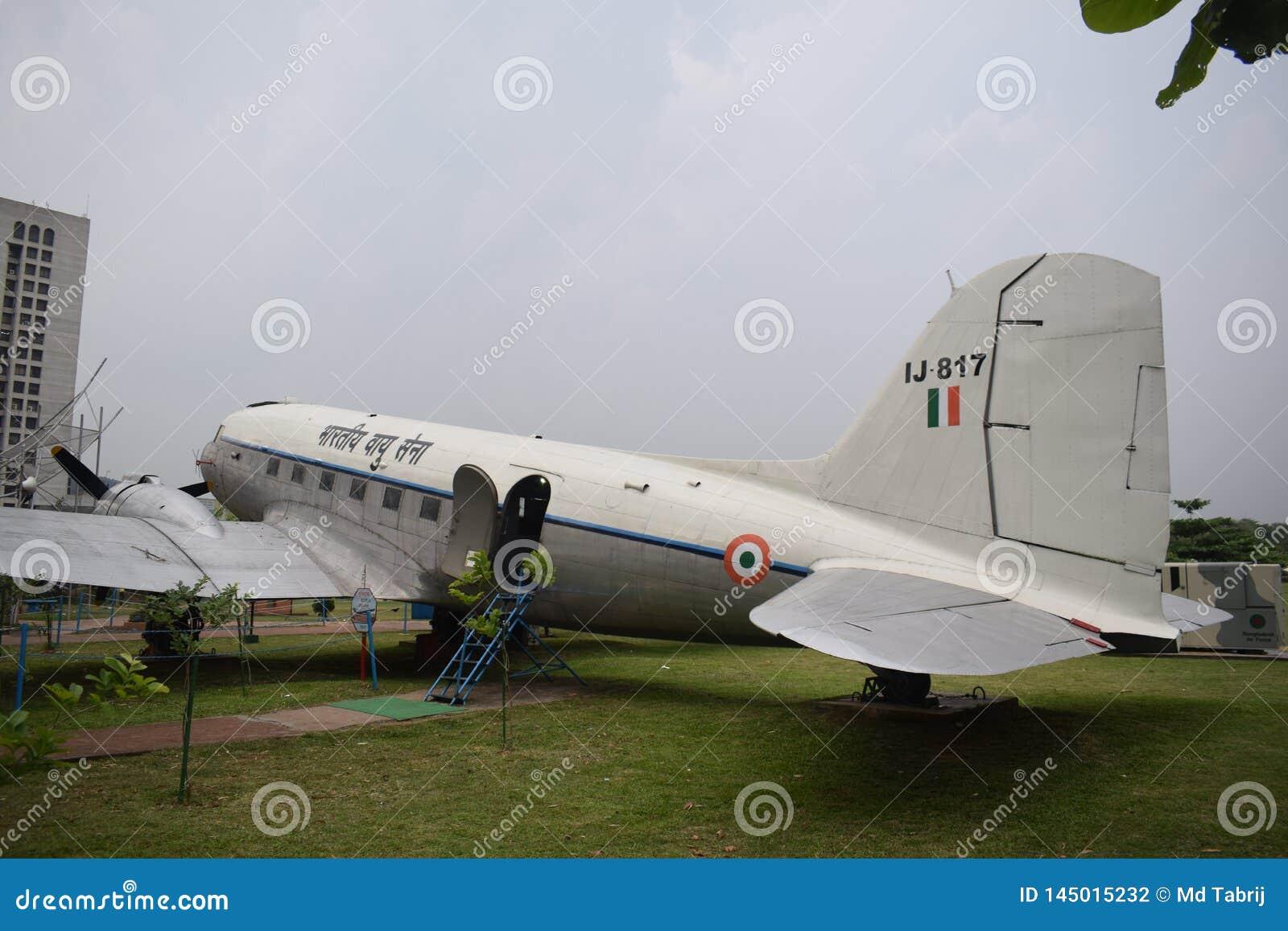 达卡,孟加拉国,-行军,26日2019年:孟加拉国空军一架老飞机在biman博物馆