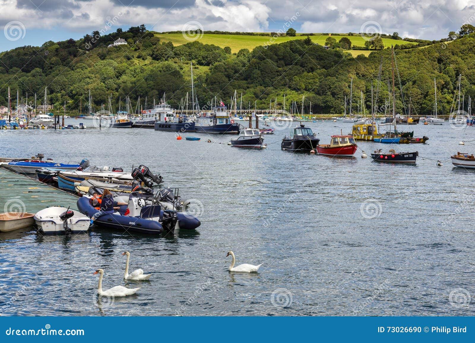 达特矛斯, DEVON/UK - 7月29日:河箭fr的风景看法