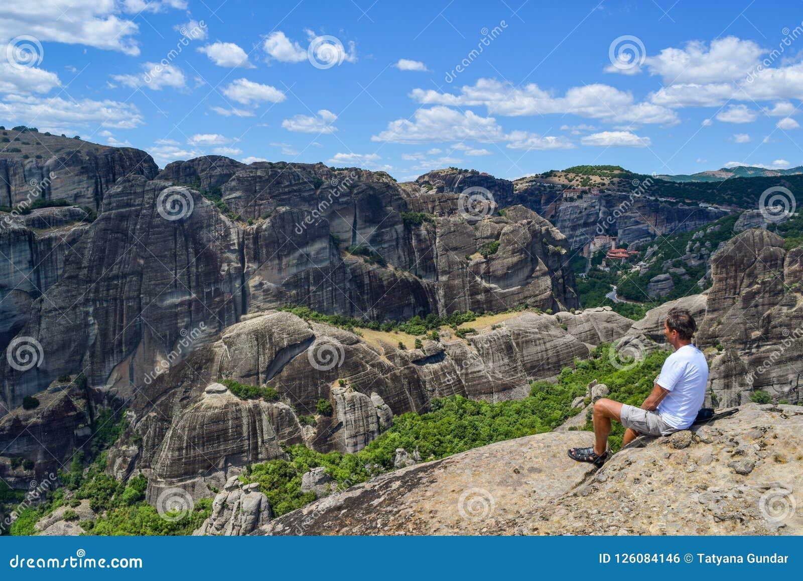 迈泰奥拉岩石在希腊