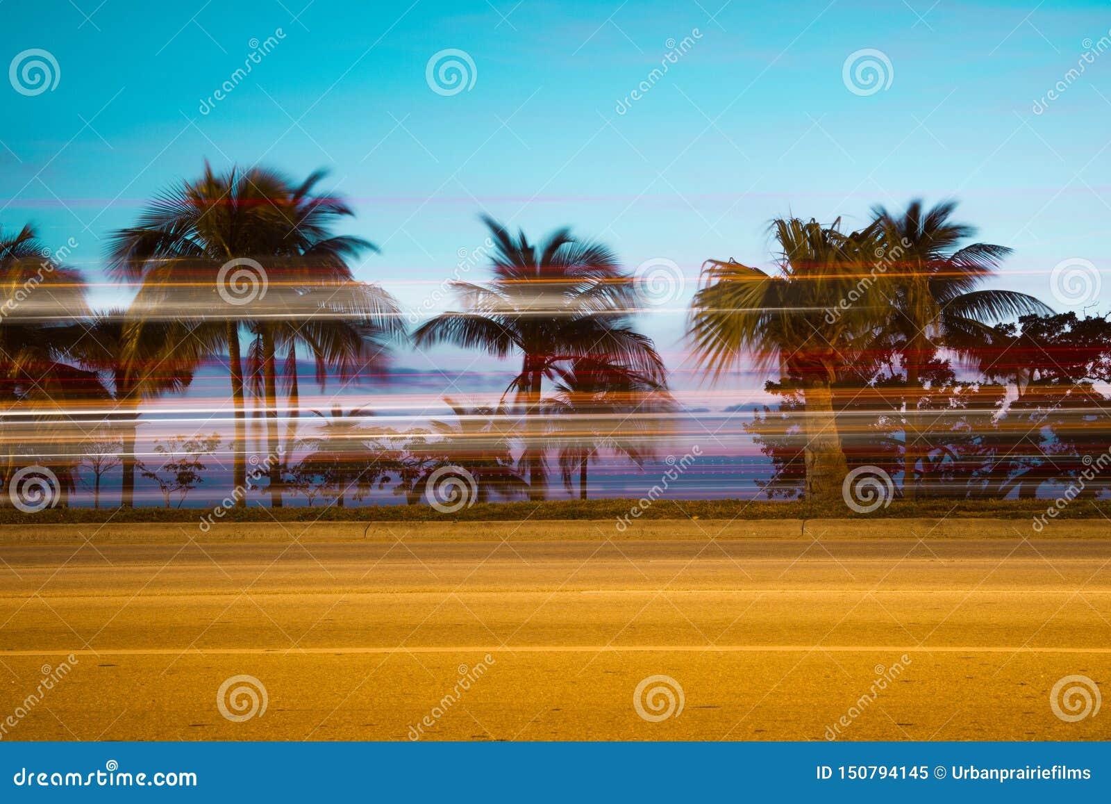 迈阿密佛罗里达高速公路迷离