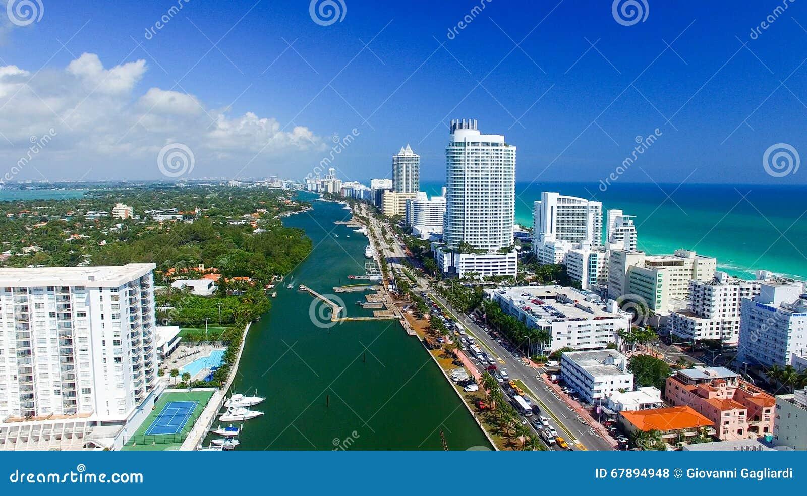 迈阿密海滩,佛罗里达鸟瞰图