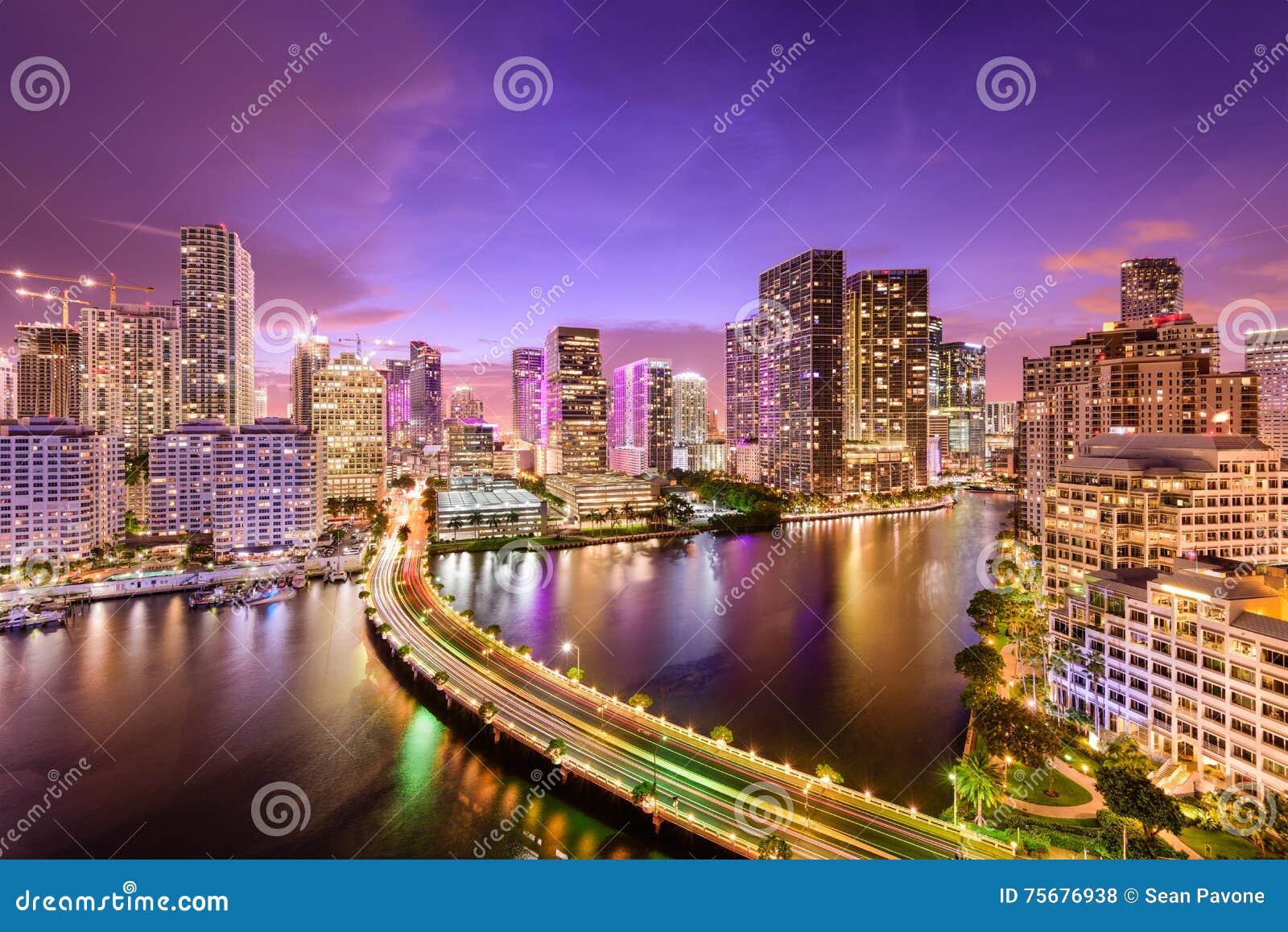 迈阿密,佛罗里达夜地平线