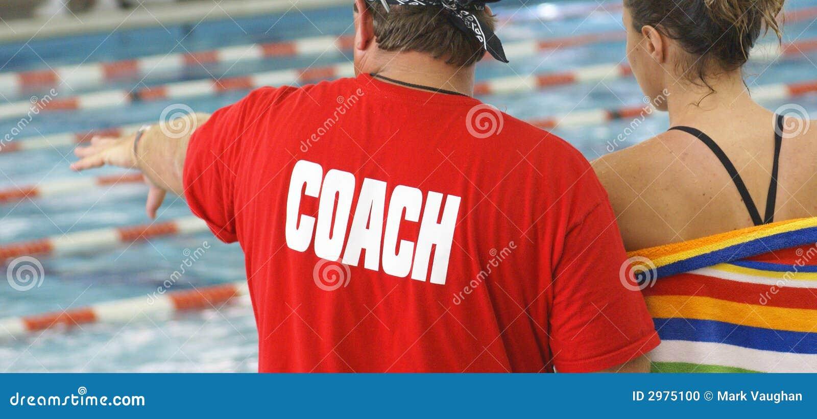 运动员教练游泳