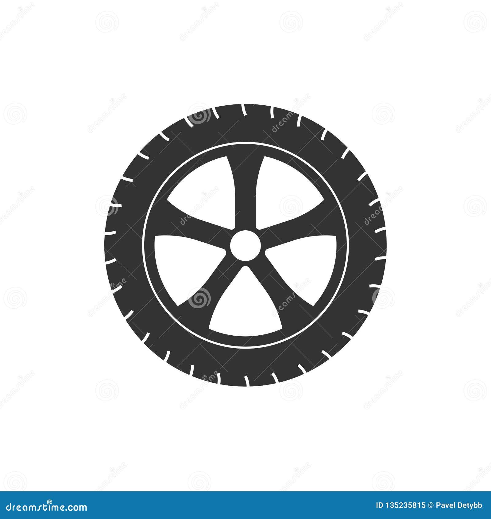 运输轮胎象 传染媒介例证,平的设计