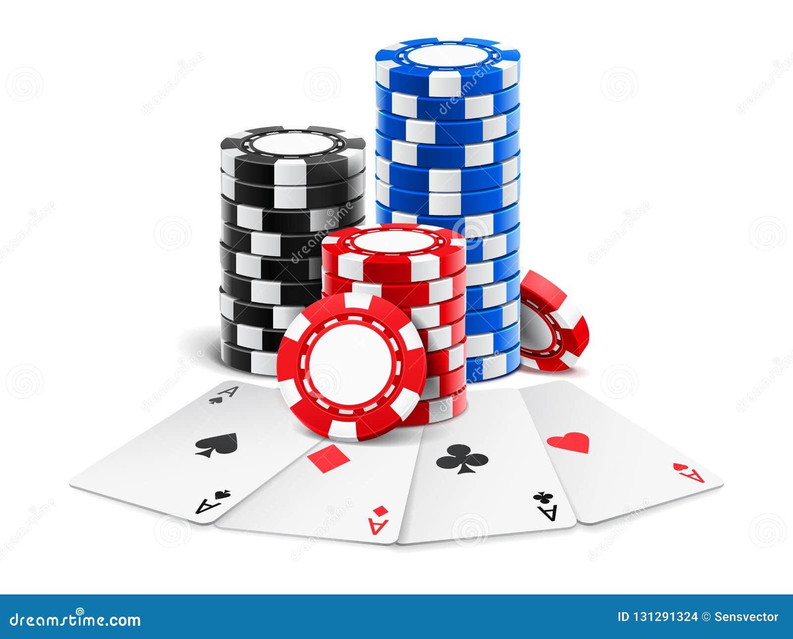 近纸牌堆赌博娱乐场3d切削