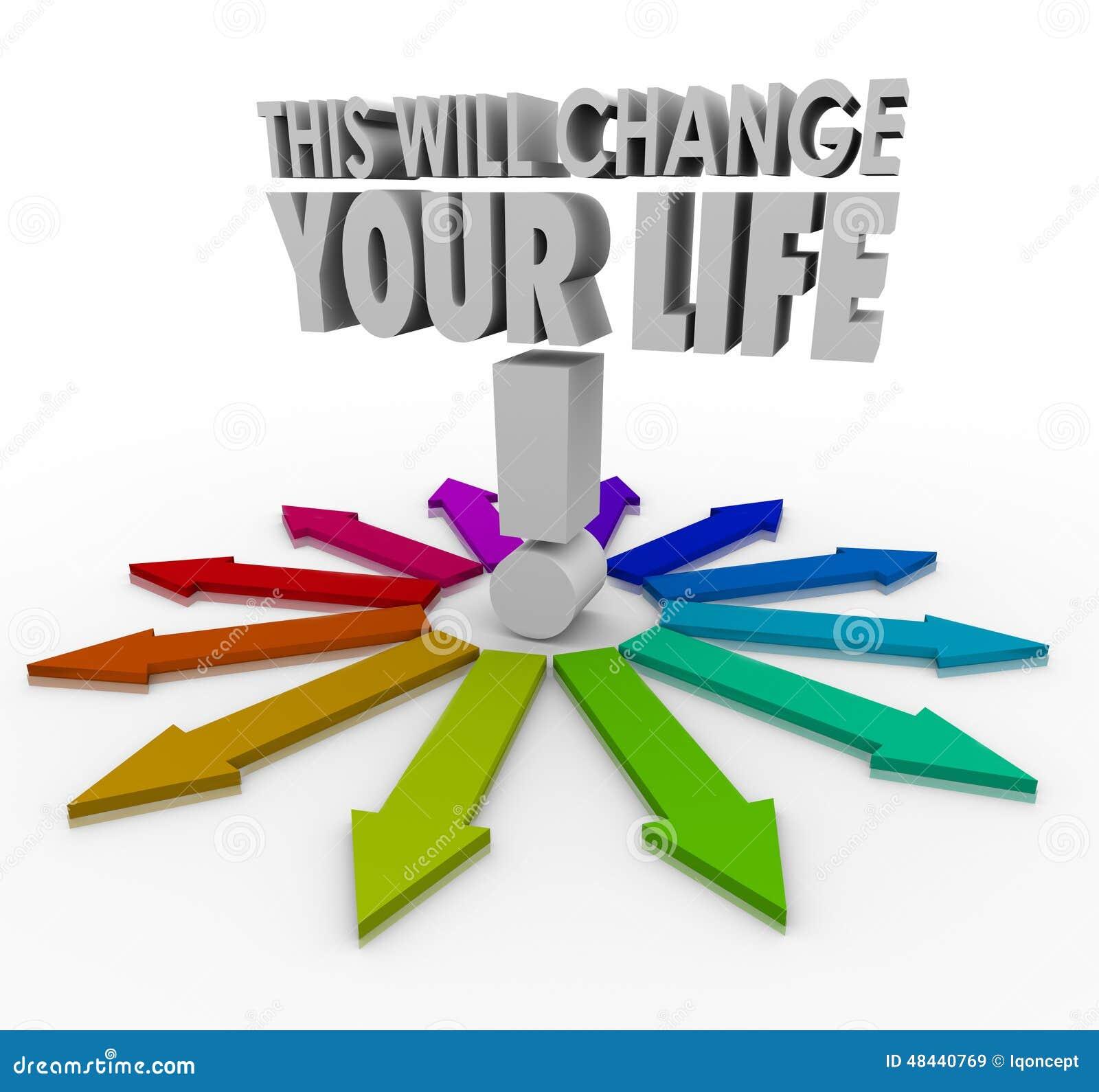 这将改变您的生活3d词箭头重要决定Ch