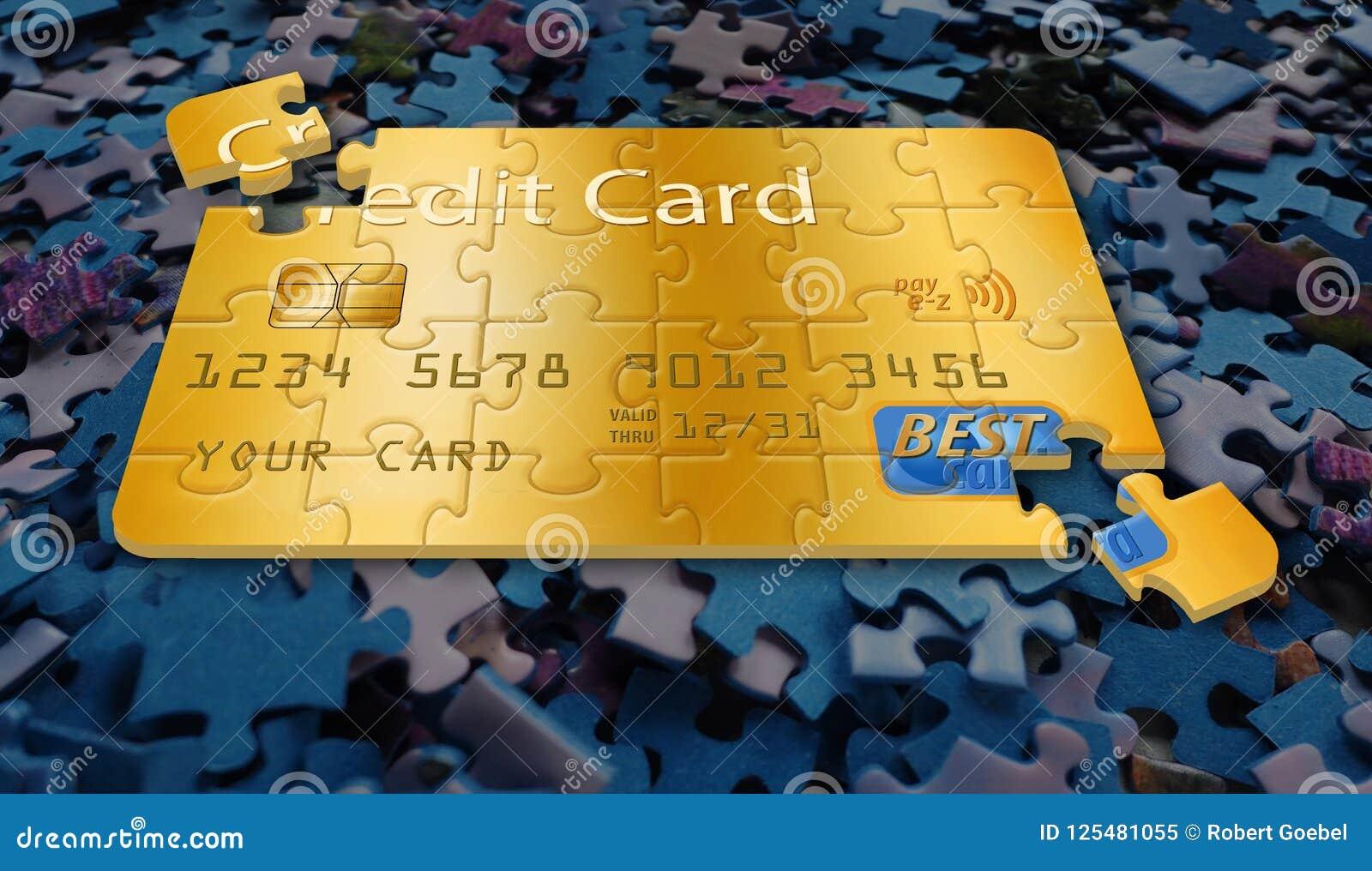 这是一张普通信用卡被做成一个七巧板
