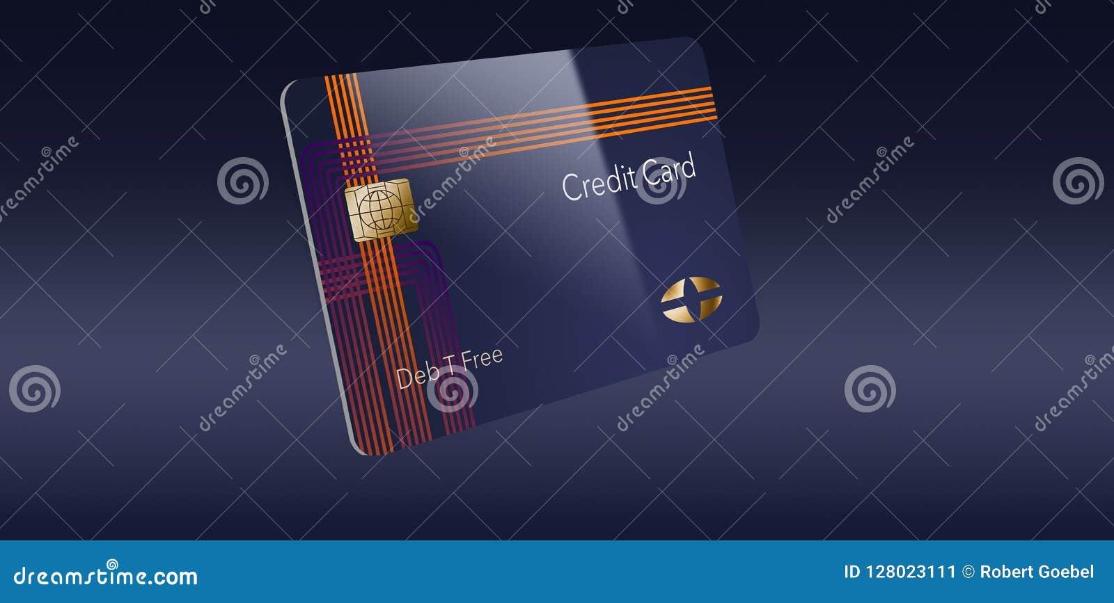 这是与普通商标的嘲笑的一张现代信用卡