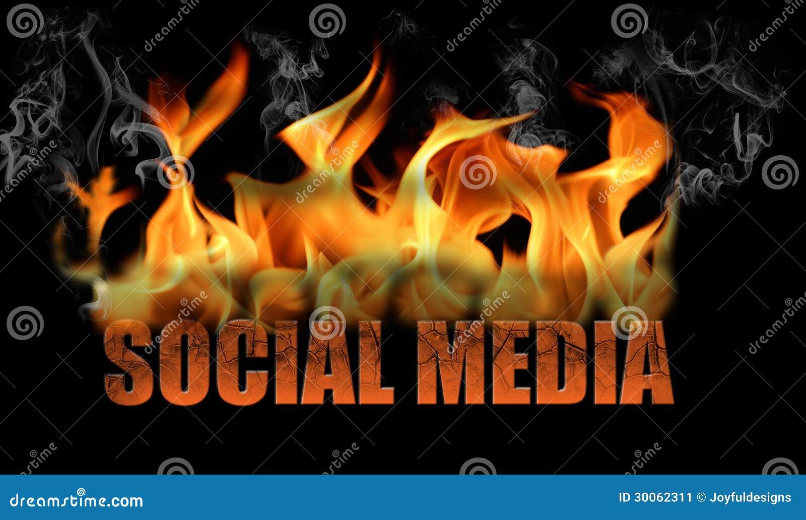 在火焰的词社会媒介