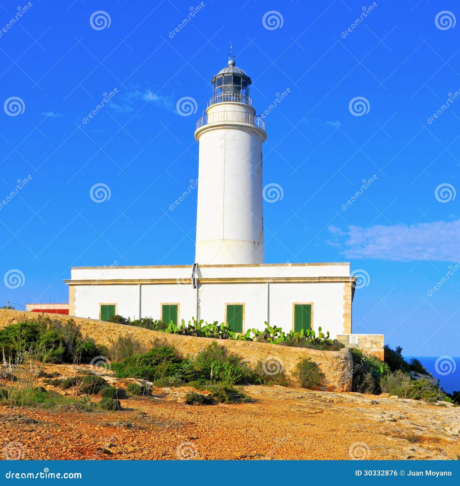 远的de la Mola在Formentera,巴利阿里群岛,西班牙