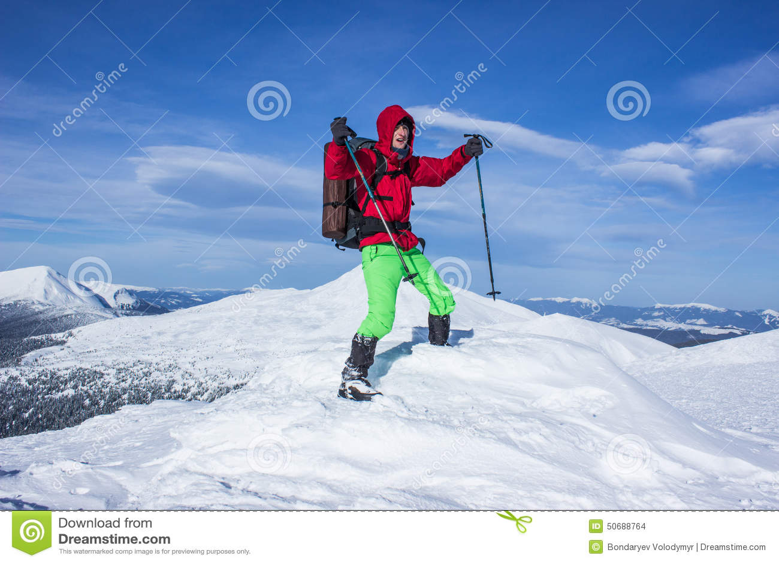 Download 远足在山的冬天 库存照片. 图片 包括有 设备, 多雪, 雪靴, 远足者, 冻结, 生气勃勃, 云彩, 极其 - 50688764
